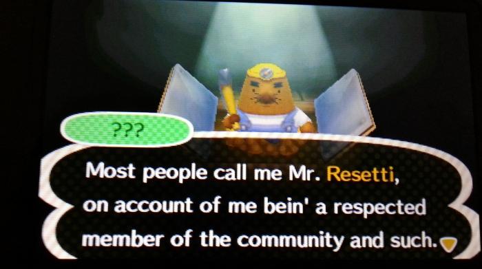 Mr Resetti