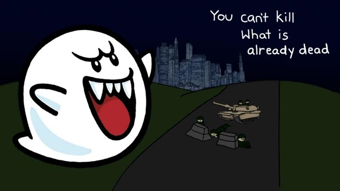 ghosts... dont... die