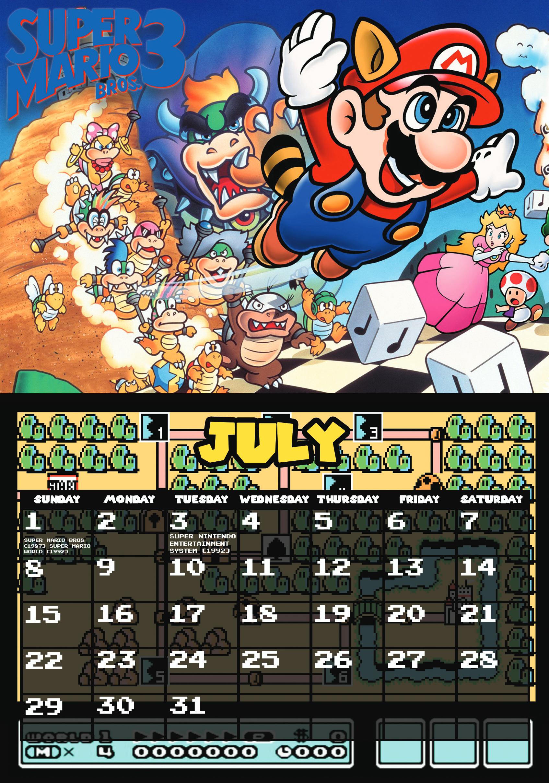 Calendar of Mario